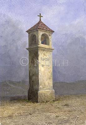 Wullersdorf, Marterl von C. Grefe 1877