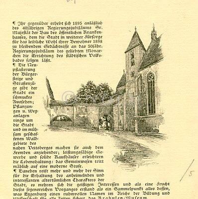 Eggenburg von Hans Götzinger 1902.