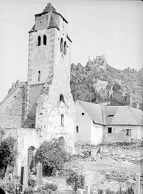 Alter Turm Dürnstein 1911 von Josef Reifschneider