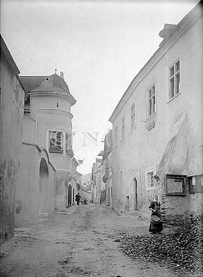 Straße in Dürnstein 1910 von Josef Reifschneider