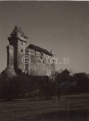 rev. Veste Liechtenstein bei Mödling von Heinrich Schuhmann Fotograf Wien, XII. Meidling, Breitenfurterstrasse 1a.