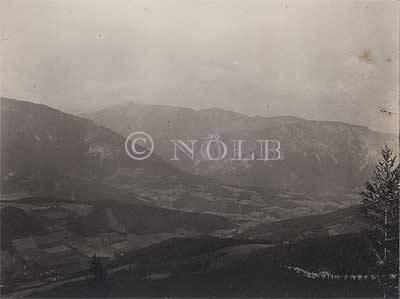 rev., handschr. Schneeberg und Gahns von Reichenau von rev., Stempel Foto: Richard K. Donin, um 1905