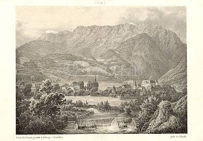 Das Tal von Reichenau von Nach der Natur gemalt u. lithogr. v. Schiffer. / gedr. b. J. Rauh.