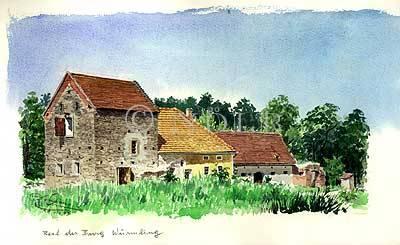 Rest der Burg Würmling von Ferdinand Dorner 10 VIII 1973