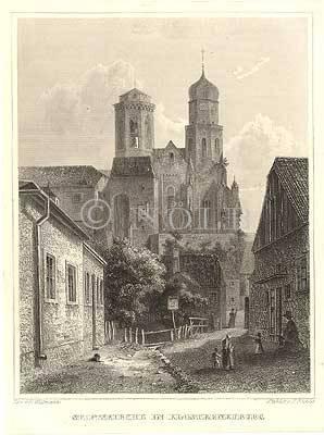 Stiftskirche in Klosterneuburg von Gez. v. E. Willmann / Stahlst. v. J. Richter