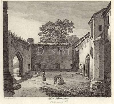 Die Binderey. Klosterneuburg von Fr. Phil. Reinhold del. / Heinr. Reinhold sc. 1818