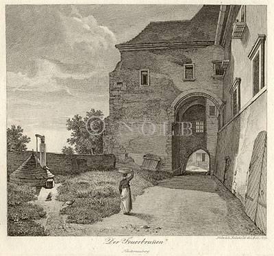 Der Feuerbrunnen. Klosterneuburg von Heinrich Reinhold del. & sc. 1819.