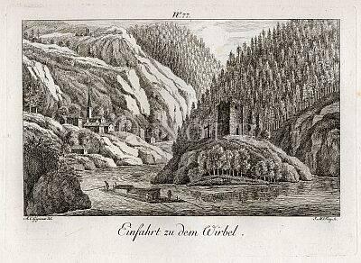 Einfahrt zu dem Wirbel . von A.C.Gignoux del. / J.M.Frey Sc.